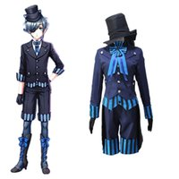 Wholesale japanese clothes free shipping - Ciel Phantomhive cosplay costumes Japanese anime Black Butler Book of the Atlantic clothing Halloween costumes Free shipping