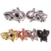 Compra Perline Animali-Perline in argento con pavé di elefante, perline con charms in elefante, perline in argento placcato oro 18k con perline in argento