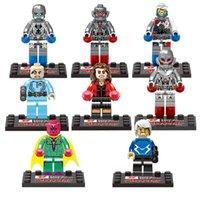 Wholesale Plastic Blocks For Babies - 8pcs The Avengers Age of Ultron Super Hero figures building blocks sets brick baby toys Classic Toys For Children