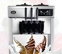 Wholesale Saving Machine Free Shipping - Free shipping mini soft ice cream machine commercial ice cream cone machine energy-saving automatic washing machine