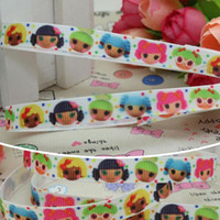 """Wholesale Grosgrain Ribbon Lalaloopsy - 3 8"""" 9mm Cartoon Coloruful Dots Lalaloopsy Printed Grosgrain Ribbon Bows Diy Materials Craft Decos Sewing 50 100Yards A2-9-68"""