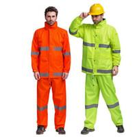 manteau de gilet de sécurité réfléchissant achat en gros de-Haute Qualité Réfléchissant Sécurité Imperméable Sécurité Visibilité Réfléchissante Gilet Réfléchissant Vêtements 3 M Trafic réfléchissent manteau RS-16 respirant