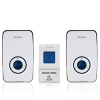 Wholesale Waterproof Wireless Smart Doorbell AC V Receivers V A Transmitter Home Office Chords LED Door Bell m Range