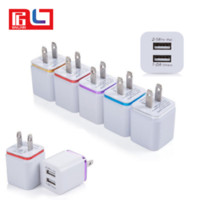 Wholesale Micro Usb Charger Wall Port - 2016 high quality double 2 port dual USB travel charger adapter micro wall charger for mobile phone