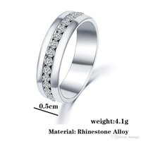 Wholesale Cheap Cz Engagement Rings - Thomas Style Cheap Silver CZ Diamond Jewelry Engagement Ring Valentine's Day Gifts Luxury Band Wedding Rings for Women 81F501