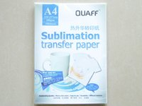 Wholesale Heat Transfers Printers - Free shipping 100pcs lot Heat Transfer Printing Paper A4 Sublimation transfer paper 46*32*14CM