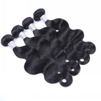 Wholesale Wholesale Malaysia Hair - 4pcs Lot Indian Brazilian Malaysia Peruvian Hair Body Wave Full Head Sewing Grade 8A Bundles Unprocessed Hair Extensions Free Shipping