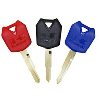 Wholesale zx 12r - 2 pcs Motorcycle Keys Blank For Kawasaki NINJA ZX12R ZX-12R ZX-10R ZX10R ZX6R 2005-2011 06 07 08 09 10 3 Colors
