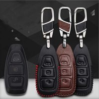 Wholesale Ford Kuga - For Ford Kuga   Ecosport   Mondeo   New wins Hand-stitched leather key case intelligent remote control package special car
