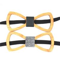 Wholesale Wedding Cravats - Wholesale-HOT SALE Men's Bow Ties Necktie Hollow Bowtie Handmade Cravat Wood Bow Tie Hardwood Gravata For Wedding