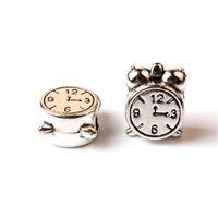 kolye saati takılar toptan satış-Yedek Alaşım Charm Boncuk Saat Zamanında Olabilir Moda Kadınlar Takı Çarpıcı Tasarım Avrupa Tarzı Pandora Bilezik Kolye Için