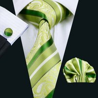 Wholesale Business Casual Clothes For Men - Hot Sale Casual Tie Men's Solid Color Necktie Formal Wedding Party Ties For Men Clothing Accessories Green Tie Silk N-0452