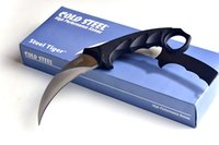 Wholesale Cold Steel Karambit - Top quality Cold Steel Karambit knife Claw knife AUS-8A 59HRC Mirror Polish blade knife Tactical knives with Secure-Ex sheath