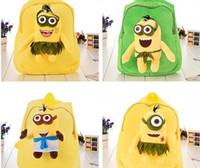 Wholesale Despicable Plush Bags - new design 2016 kid favorite cute cartoon Despicable Me style choose plush toys school bag should back bag kid party gift