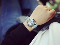 Wholesale Antique Pink Glass - 2016 Women Dress Hollow Watches Vintage Leather Fashion Quartz Retro Antique Wristwatches Female Clock Montre Femme Reloj Mujer