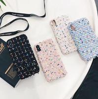 Wholesale Famous Textiles - Famous Luxury brand Case Cute Rabbit Plush Furry Case phone cover for iPhone x 8 6 7 6S Plus X