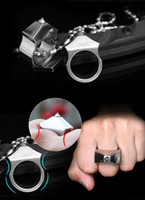 Wholesale Geared Head - Hot EDC Tungsten steel head in self-defense ring finger ring necklace defense tool