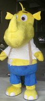 Wholesale Yellow Hippo Costume - SW0723 100% positive feedback a yellow hank hippo mascot costume with a white shirt for sale