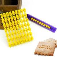 Wholesale Cookie Embosser - Alphabet Letter Number Biscuit Cookie Cutter Press Stamp Embosser Cake Mould S303