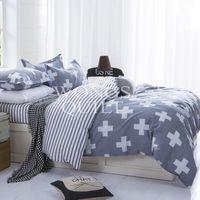 camas tamaño queen envío gratis al por mayor-Súper suave de alta calidad textil para el hogar 3 piezas de juego de cama funda nórdica hoja de cama fundas de almohada twin full king king size envío gratis