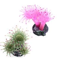 Wholesale Plastic Coral Fish - Aquarium Artificial Sea Plastic Urchin Coral Plant Water Ornament Fish Tank Decoration