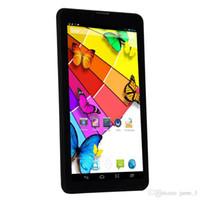 mtk6572 appel téléphonique achat en gros de-7 pouces 3G téléphone tablette PC MTK6572 double noyau Android 4.2 512 Mo / 4G doubles caméras OTG