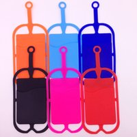 Wholesale Phones Black Berry - Universal mobile hybrid case soft Silicone case with long Lanyard strap pounch card holder for samsung black berry smart phone