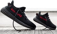 Wholesale Tennis Led - CP9366 Boost 350 V2 Cream White Fluorescent Kanye West Black Red White Boost Led Lighting Kanye SPL Shoes Size 12 With Box