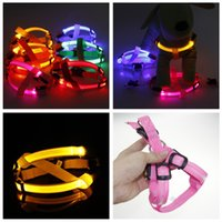 New LED Dog Collar Peppy Dog Led Clignotant Light Harness Collar Pet Safety Led Leash Rope Belt Wholesales haute qualité