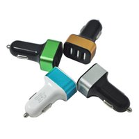 Wholesale Iphone 4s Car - Mini Three 3 Port USB Car Charger Power Adapter For iphone 4 4s for ipad touch Mobile phone Cigar Socket