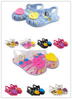 Wholesale Jelly Heart Sandals - Childrens Sandals 5 Colors Mini Melissa Childrens Sandals Summer Style Kids Shoes Cute Heart Rubber Jelly Baby Girls Beach Shoes