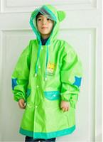 Wholesale Kids Pvc Raincoat - Latest version Children Rain Cap Cartoon Pattern Kids Childs Raincoat PVC Hooded Kid Child Rain Coat