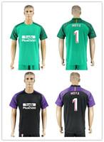 Wholesale Black Legion - Spanish Championship team bedsheet Legion short sleeve Soccer Sporting suit 1718 MOYA and OBLAK Classic Black Green goalkeeper Soccer Sport