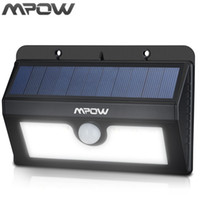 Wholesale outside security - Wholesale- Mpow 20 LED Solar Lamp Outside Motion Sensor Garden Wall Security Powered Night lighting Weatherproof Wireless Patio Deck Lights