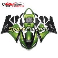Wholesale Kawasaki 636 Plastics - Injection ABS Plastic Motorcycle Full Fairings Kit For Kawasaki ZX6R ZX-6R Ninja 636 05 06 Year 2005 2006 Green Black Covers Bodywork
