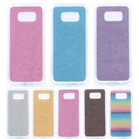 Wholesale S3 Mini Glitter - Ultra Thin Crystal Soft TPU Glitter Case For Samsung Galaxy S8 Plus S7 Edge S6 Edge Plus S5 S4 Mini S3 Phone Cases Back Cover Case