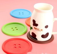 PC Used Bar Tables   10 Pieces Sale Original Button Style Tea Cup Drinking  Mats PVC