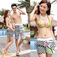 Wholesale Beach Surf Pants Women - Wholesale-New Hot Men Women Couple Beach Colorful Patchwork Pants Surf Board Swim Shorts L-XXL 78