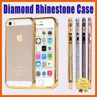 Wholesale Aluminum Glitter Case - rhinestone cases iPhone 7 5 SE 6 6S Plus Luxury Crystal Diamond Glitter Bling Aluminum Metal Case Cover Bumper Mix Order
