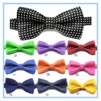 Wholesale Baby Boy Bowtie - Boys Tie Kids Bow Tie Necktie Baby Tie Children Kids Toddler Boys Girls Party Wedding Bowtie Pre Tied Bow Tie Necktie Adjustable Tie
