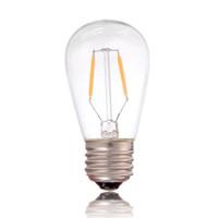 Wholesale E27 1w - DHL Free,LED Vintage Filament Bulb Light,ST45 Edison Style,1W,2200K,110V 220V AC,Retro Decorative Lamp