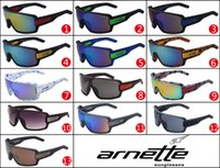 Wholesale Wholesale Wayfarer Sunglasses Mirror - ARNETTE sunglasses sport cycling big sunglasses dazzle colour mirrors glasses frame sunglasses ANT02 20PCS free shipping