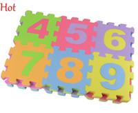 tapis de jeu en mousse souple achat en gros de-Chaude 36 pcs / Set Alphabet Chiffres Enfants Tapis Bébé Jouer Tapis Lettres Doux Plancher Crawling Mini Puzzle Tapis pour Enfants Enfants Mousse Jouer Tapis 18525