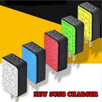 5V 3A Multi 3 portas USB Travel Home Charger Adapter Fast Charging US Plug para iPhone para Samsung Tablet Phone