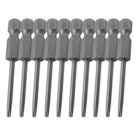 Wholesale T5 T6 Screwdriver Set - Shank H1 4 Length 50mm Magnetic Torx Screwdriver Bits T5 T6 T7 T8 T9 T15 T25 T35 10pcs pack
