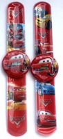 Wholesale Slap Watch Cars - 120Pcs Free shipping Cartoon cars slap on kids children boys wrist watch silicone sports