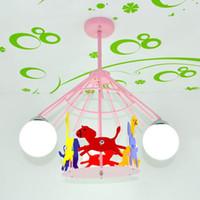 bebek tavan toptan satış-Karikatür Atlıkarınca çocuk Odası Tavan Lambası Yaratıcı Bebek Odası Tavan Işık Erkek Kız Odası Tavan Kolye Işıkları