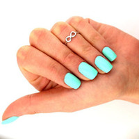 Wholesale Lady Women Toe Rings Vintage Simple Infinity Midi Finger Ring Unique Gold Silve Knuckle Rings Foot Jewelry Beach Retro Stylish Body Jewellry