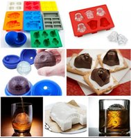 Wholesale Silicone Ice Cube Trays Wholesale - Silicone Ice Cube Tray Star Wars Ice Cube Tray Mold Baking Chocolate Fondant Mould 8 Styles Fondant Mold Death Star X-Wing KKA219