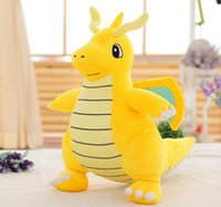 Wholesale Despicable Plush Bags - 22cm Poke Center Plush Toy Dragonite Cute Collectible Soft Pikachu Charizard Stuffed Animal Doll Christmas Gifts in opp bag EMS